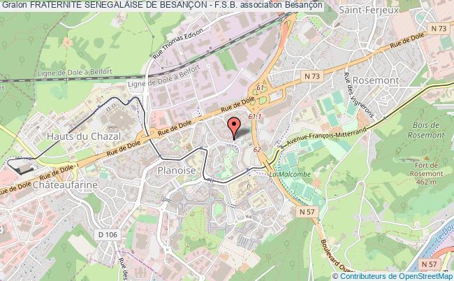 plan association Fraternite Senegalaise De BesanÇon - F.s.b.