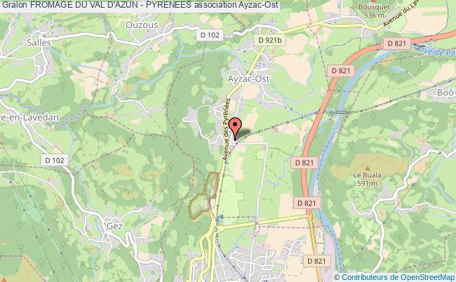 plan association Fromage Du Val D'azun - Pyrenees Ayzac-Ost
