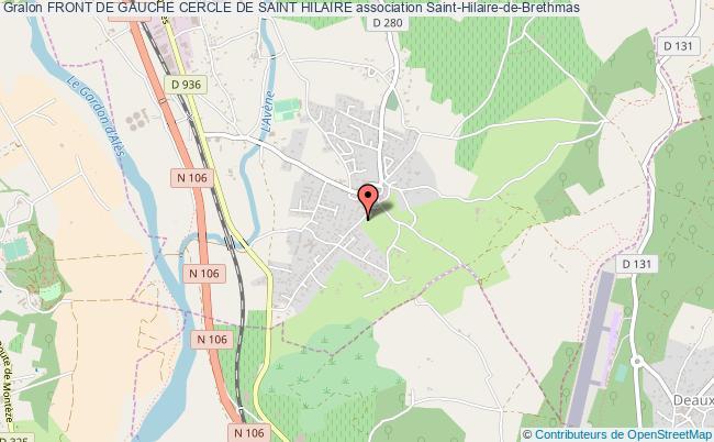 plan association Front De Gauche Cercle De Saint Hilaire