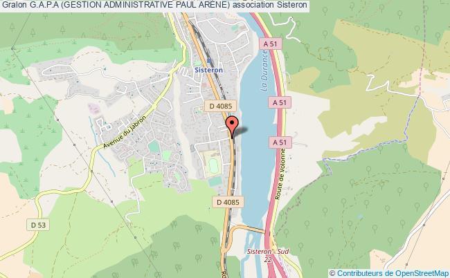 plan association G.a.p.a (gestion Administrative Paul ArÈne)