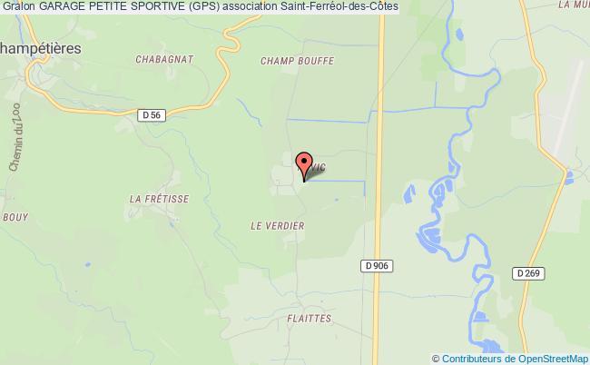 plan association Garage Petite Sportive (gps) Saint-Ferréol-des-Côtes
