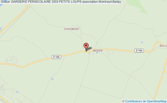 plan association Garderie Periscolaire Des Petits Loups Montreuil-Bellay