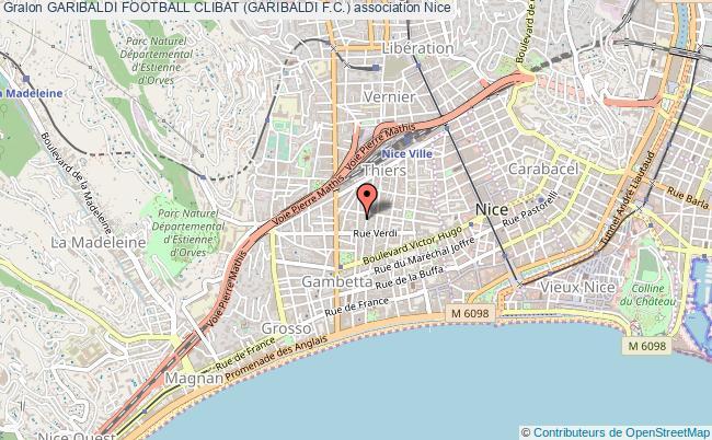 plan association Garibaldi Football Clibat (garibaldi F.c.) Nice