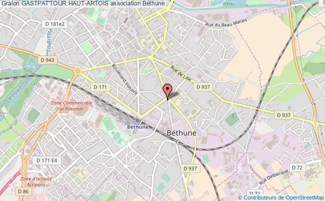 plan association Gastpat'tour Haut-artois