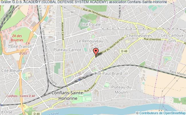 plan association G.d.s. Academy (global Defense System Academy) Conflans-Sainte-Honorine