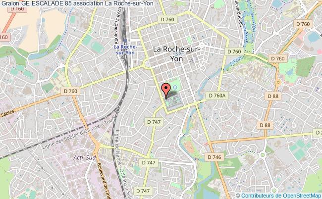 plan association Ge Escalade 85 Roche-sur-Yon