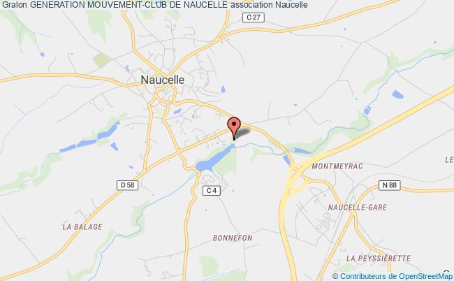 plan association Generation Mouvement-club De Naucelle Naucelle
