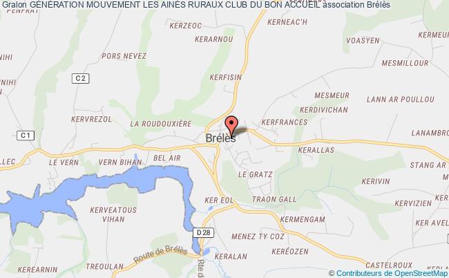 plan association GÉnÉration Mouvement Les AinÉs Ruraux Club Du Bon Accueil Brélès