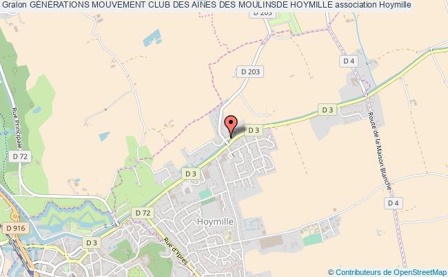 plan association GÉnÉrations Mouvement Club Des Aines Des Moulinsde Hoymille Hoymille