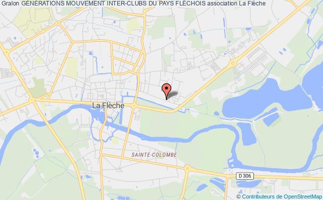 plan association Generations Mouvement Des Aines Ruraux Du Canton De La Fleche