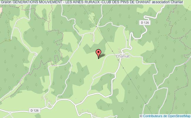 plan association Generations Mouvement - Les Aines Ruraux -club Des Pins De Chaniat Chaniat