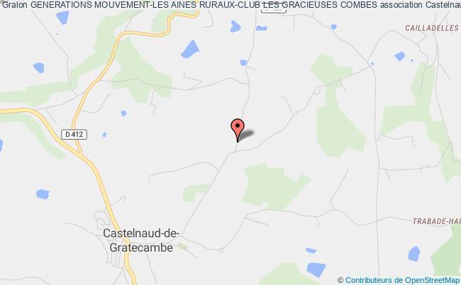 plan association Generations Mouvement-les Aines Ruraux-club Les Gracieuses Combes Castelnaud-de-Gratecambe