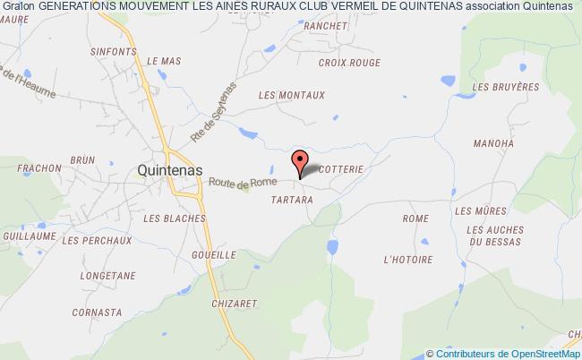 plan association Generations Mouvement Les Aines Ruraux Club Vermeil De Quintenas