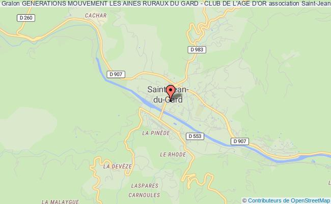 plan association Generations Mouvement Les Aines Ruraux Du Gard - Club De L'age D'or