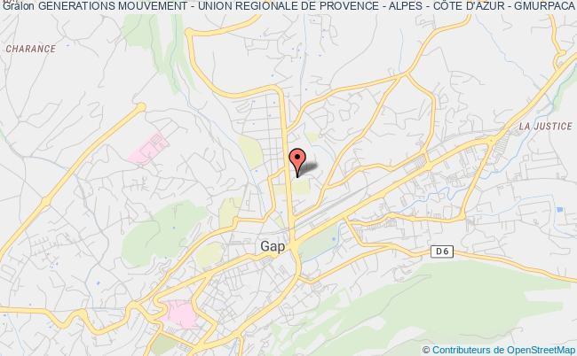 plan association Generations Mouvement - Union Regionale De Provence - Alpes - CÔte D'azur - Gmurpaca