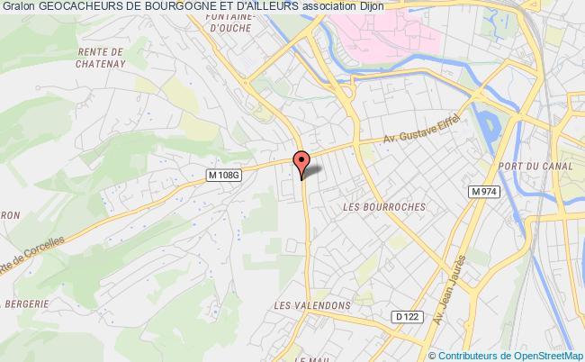 plan association Geocacheurs De Bourgogne Et D'ailleurs