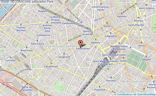plan association Geodancers Paris 15e