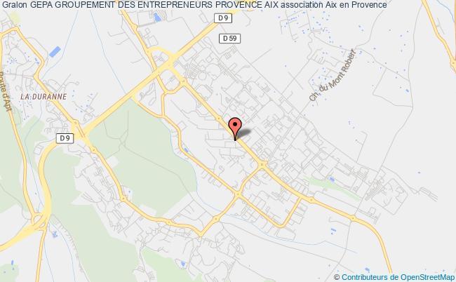 plan association Gepa Groupement Des Entrepreneurs Provence Aix
