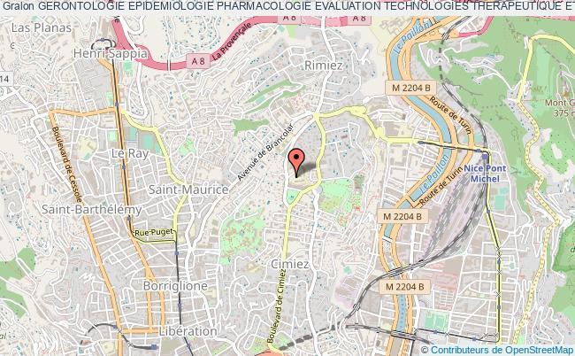 plan association Gerontologie Epidemiologie Pharmacologie Evaluation Technologies Therapeutique Et Oncologie (gepetto) Nice Cedex 1