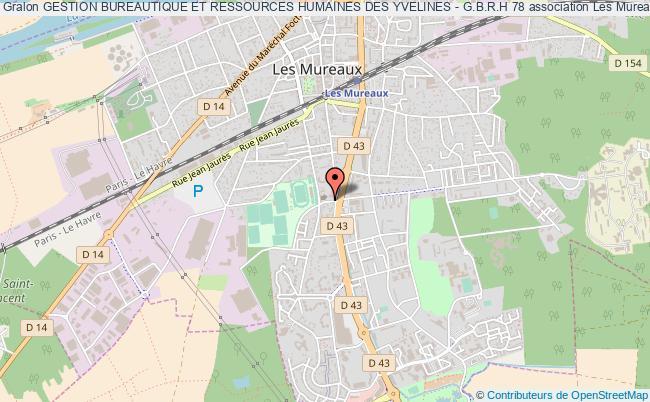 plan association Gestion Bureautique Et Ressources Humaines Des Yvelines - G.b.r.h 78 Les   Mureaux