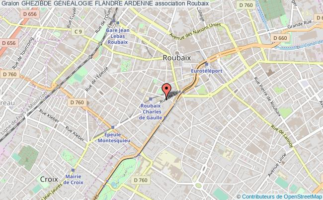plan association Ghezibde GÉnÉalogie Flandre Ardenne Roubaix