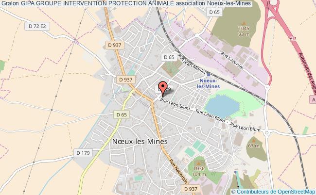 plan association Gipa Groupe Intervention Protection Animale