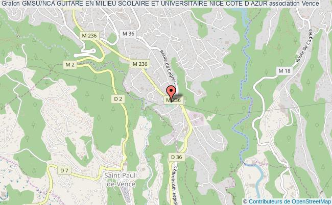 plan association Gmsu/nca Guitare En Milieu Scolaire Et Universitaire Nice Cote D Azur