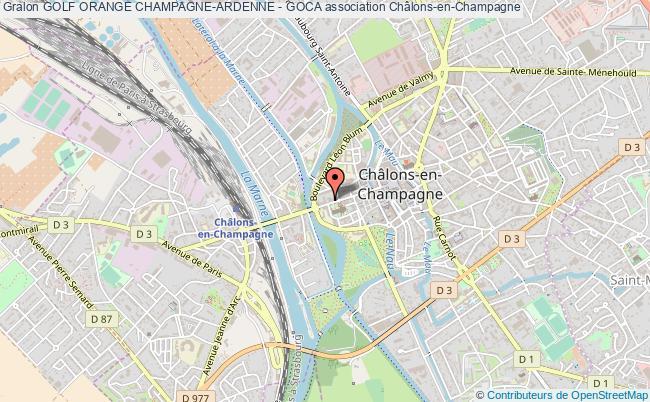 plan association Golf Orange Champagne-ardenne - Goca