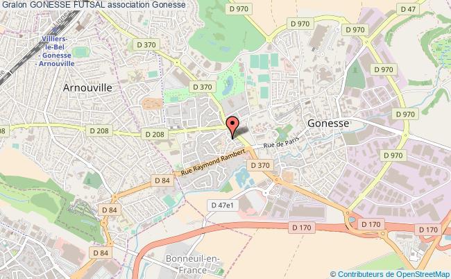 plan association Gonesse Futsal Gonesse