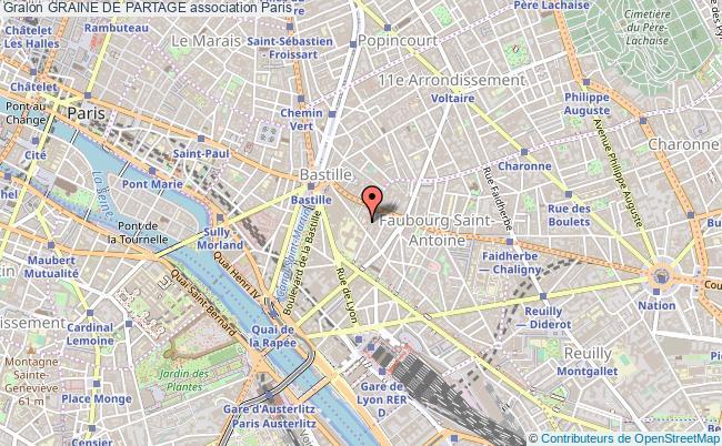 plan association Graine De Partage Paris