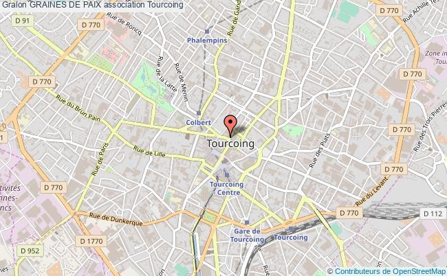 plan association Graines De Paix Tourcoing