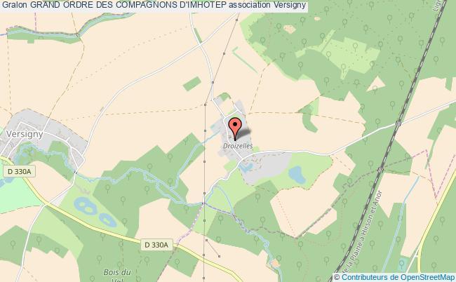 plan association Grand Ordre Des Compagnons D'imhotep Versigny