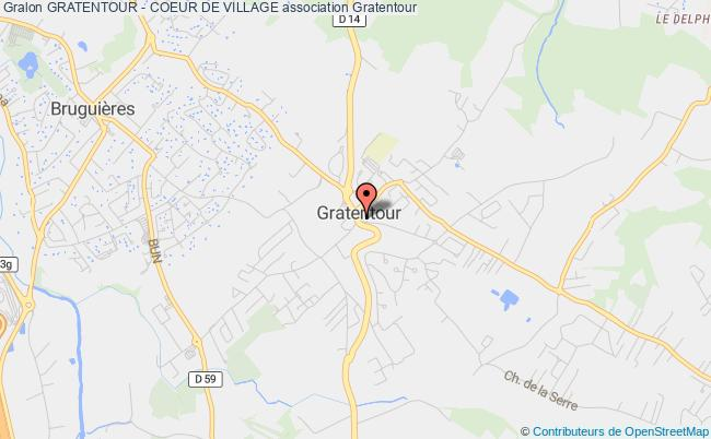 plan association Gratentour - Coeur De Village