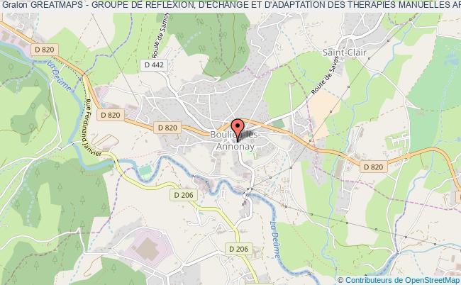 plan association Greatmaps - Groupe De Reflexion, D'echange Et D'adaptation Des Therapies Manuelles Appliquees A La Pratique Sportive