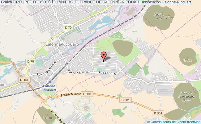plan association Groupe Cite 6 Des Pionniers De France De Calonne-ricouart