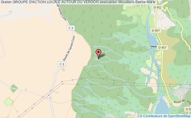 plan association Groupe D'action Locale Autour Du Verdon