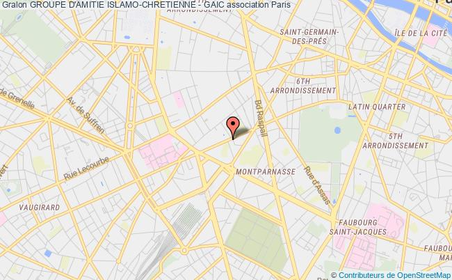 plan association Groupe D'amitie Islamo-chretienne - Gaic Paris
