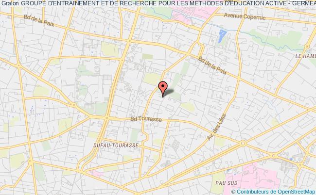plan association Groupe D'entrainement Et De Recherche Pour Les Methodes D'education Active - Germea Pau