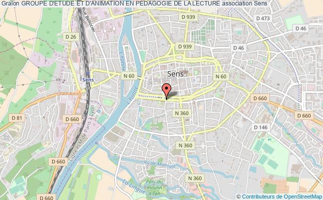 plan association Groupe D'etude Et D'animation En Pedagogie De La Lecture Sens