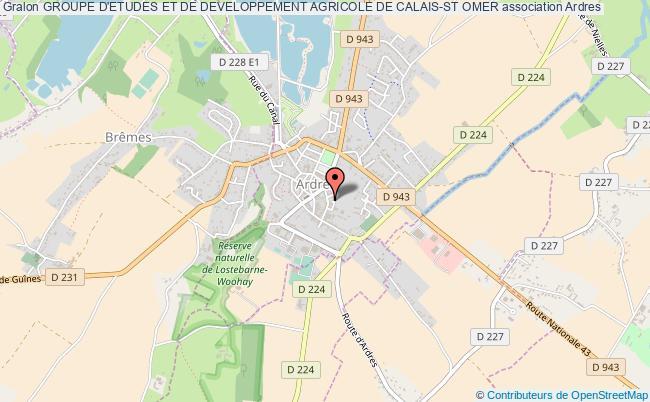 plan association Groupe D'etudes Et De Developpement Agricole De Calais-st Omer