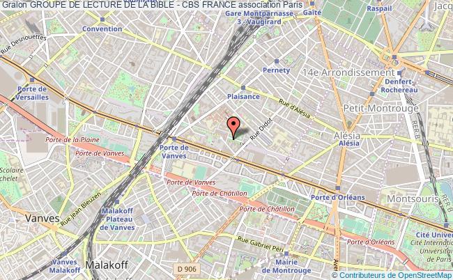 plan association Groupe De Lecture De La Bible - Cbs France