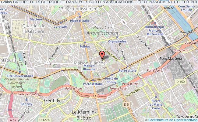 plan association Groupe De Recherche Et D'analyses Sur Les Associations, Leur Financement Et Leur Intervention Dans La Cite (graaf)