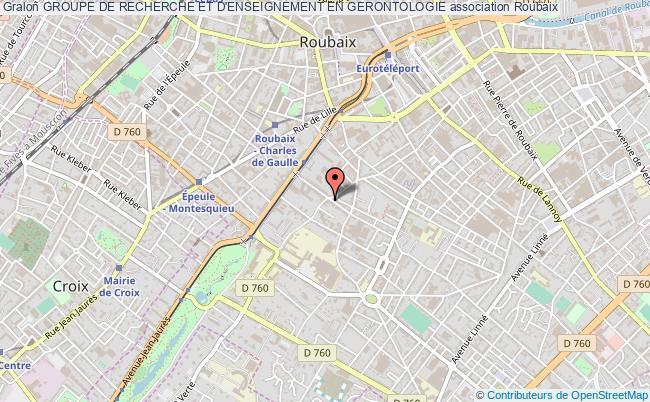 plan association Groupe De Recherche Et D'enseignement En Gerontologie Roubaix