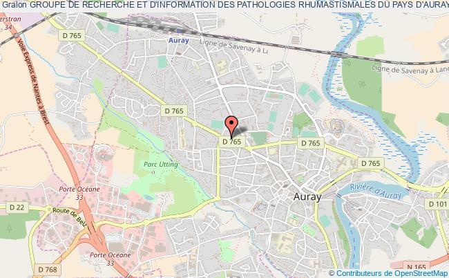 plan association Groupe De Recherche Et D'information Des Pathologies Rhumastismales Du Pays D'auray Auray