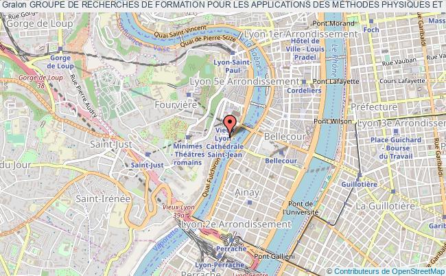 plan association Groupe De Recherches De Formation Pour Les Applications Des MÉthodes Physiques Et Des Radiations Ionisantes (grampri)