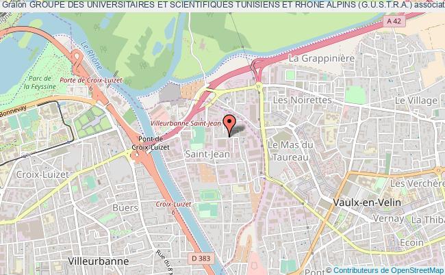 plan association Groupe Des Universitaires Et Scientifiques Tunisiens Et Rhone Alpins (g.u.s.t.r.a.)