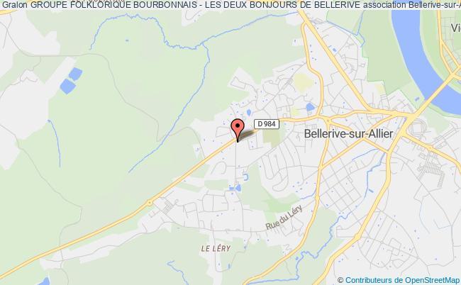 plan association Groupe Folklorique Bourbonnais - Les Deux Bonjours De Bellerive
