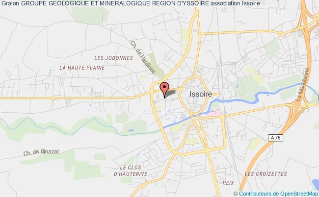 plan association Groupe Geologique Et Mineralogique Region D'yssoire Issoire