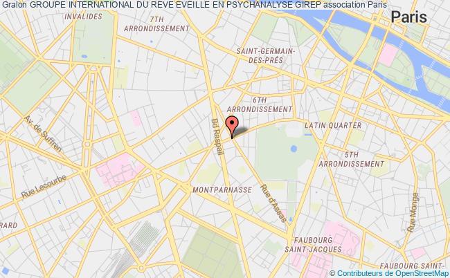 plan association Groupe International Du Reve Eveille En Psychanalyse Girep Paris