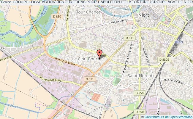 plan association Groupe Local Action Des Chretiens Pour L'abolition De La Torture (groupe Acat De Niort)